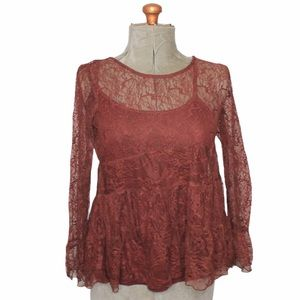 🎀3/$30 American Eagle Brown Lace Blouse